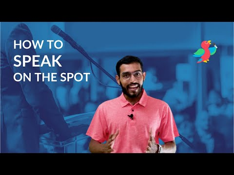 Impromptu Speech - Examples, Techniques, Tips and More