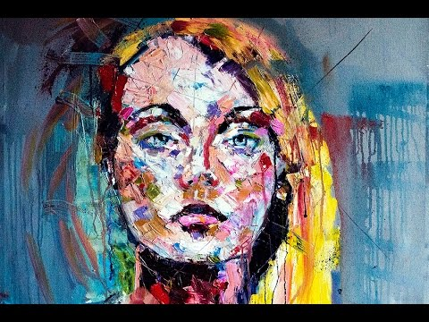 painting with knife by chris silver art