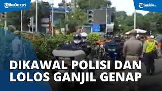 Viral Rombongan Moge di Bogor Dikawal Polisi Lolos Pemeriksaan Surat Rapid Antigen dan Ganjil Genap
