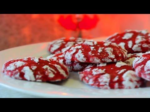 Red Velvet Crinkle Cookie Recipe