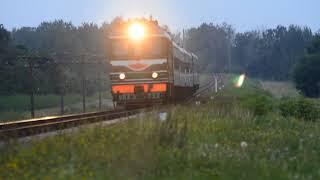 Тепловоз ТЭП60-0448 с поездом № 614 Солигорск-Могилёв.