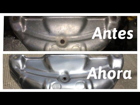 TAPA COLECTOR ESCAPE PULIDA (como limpio piezas de aluminio)
