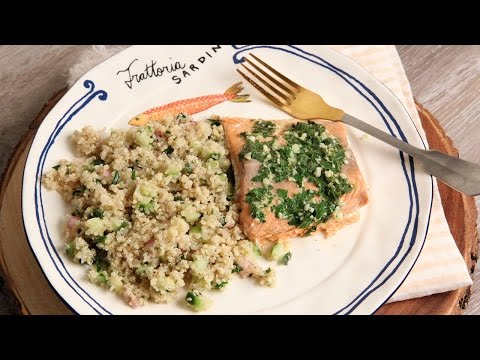 Buttery Garlic Roasted Salmon Fillet Recipe – Laura in the Kitchen Episode 1149