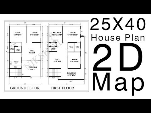 25x40 house plans | 2bhk house plans north facing | RD Design