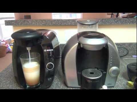 Máquina de Café Tassimo marca Bosch modelo T20 con lectura de código de barra