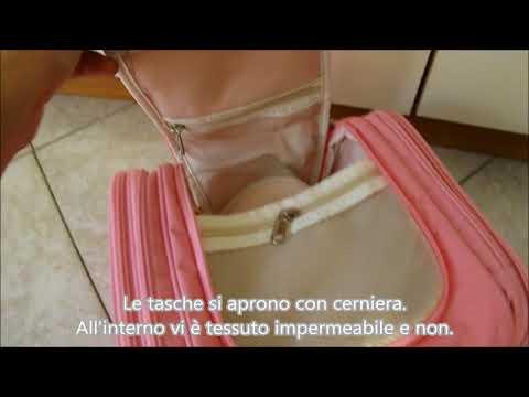 Borsa da toilette viaggio vari colori capiente impermeabile NuoYo