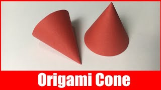 How to Make a Cone out of Paper | Origami Cone Shape (Easiest Way) | DIY 3d Cone