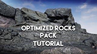 UE4 Optimized Rocks asset pack tutorial