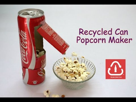How to Make a Recycled Can Popcorn Machine