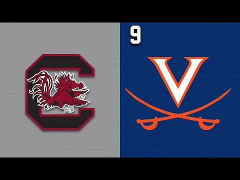2019 College Basketball South Carolina vs #9 Virginia Highlights