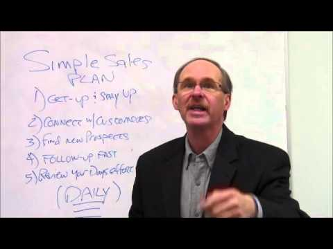 5 Simple Sales Tips with Larry Cockerel, Simple Sales Plan