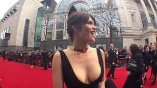 Gemma Arterton Almost Spills (Olivier Awards 2015)