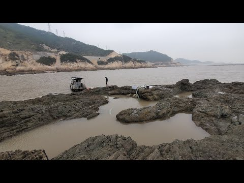 冬季岛上大水坑成为成群海货避风塘,螃蟹大石斑八爪鱼各个肥美无比
