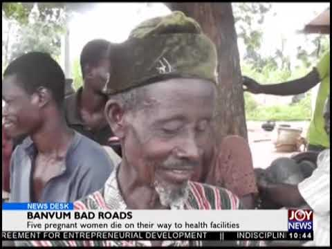 Banvum Bad Roads - News Desk on JoyNews (20-9-18)