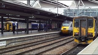 preview picture of video 'Trains at Leeds railway station, UK | 28/10/2014'