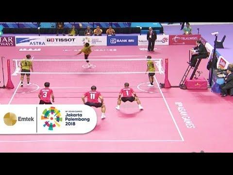 Highlight Pertandingan Sepak Takraw INA vs MALAYSIA | Asian Games 2018