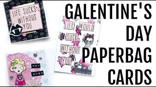 Paperbag Cards Done 2 Ways | Galentine's Card Collab | Serena Bee Creative