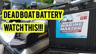 How to fix a dead boat battery (wont charge)