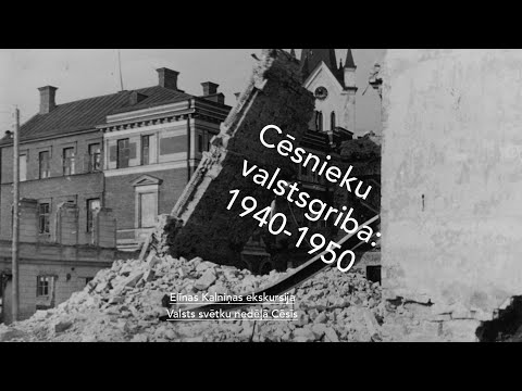 """Elīnas Kalniņas ekskursija """"Cēsnieku valstsgriba: 1940-1950"""""""