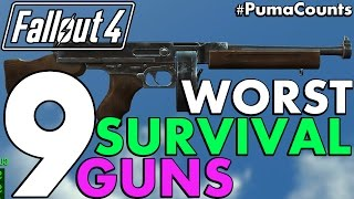 Top 9 Worst Guns and Weapons from Fallout 4's Survival Mode (Including DLC) #PumaCounts