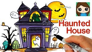 How To Draw A Haunted House Easy