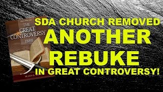 SDA Church removed ANOTHER rebuke in the GC!