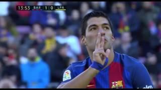 Barcelona VS Las Palmas 1- 0 GOAL Suarez 14/1/2017 HD