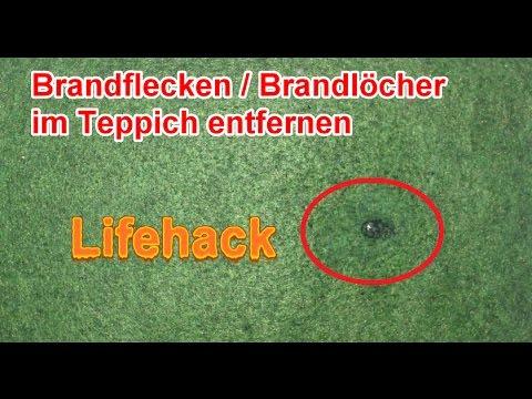 Brandloch im Teppich – Sofa – Autositz reparieren / Brandflecken selber entfernen
