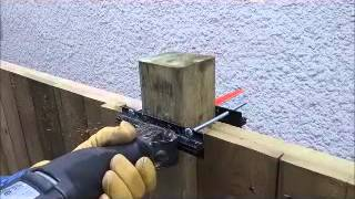 How to cut 4x4 fence posts using the universal reciprocating saw guide...ReciProMate
