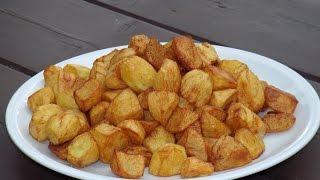 Жаренная картошка в казане