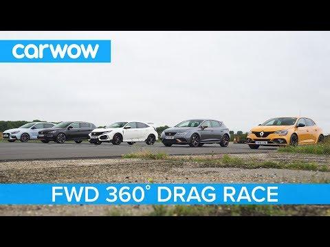 i30N vs Type-R vs Megane RS vs Cupra R vs 308 GTi - 360° DRAG & ROLLING RACE