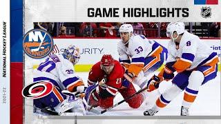 Islanders @ Hurricanes 10/14/21   NHL Highlights