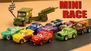 Can Mater keep up? He's not a Race Car Mini Racers Cars roll through Radiator Springs!
