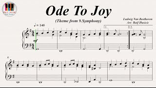 Ode To Joy, (Ode an die Freude), Symphony No. 9 - Ludwig Van Beethoven, Piano