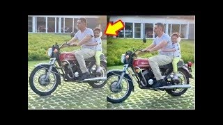 Ziva Dhoni Cute Little Bike Ride With Father MS Dhoni During Lockdown | Last Page Readers