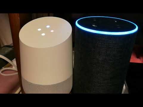 Google HomeとAmazon Echoのピカチュウ同士会話させてみた