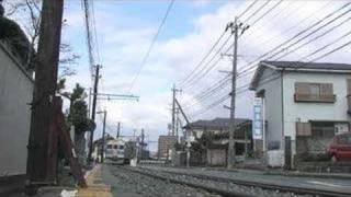 【熊本電鉄】併用軌道区間を行く6000系&前面展望(080114)