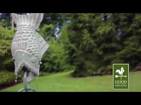 Blue Verde Fish Rain Chain By Good Directions