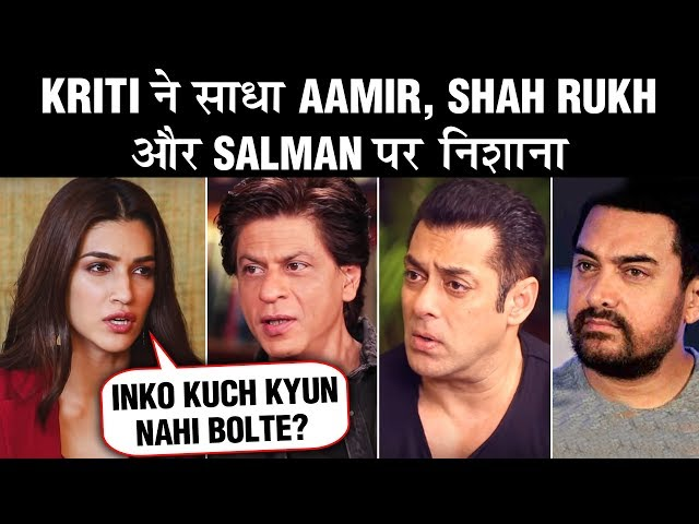 Kriti Sanon TAUNTS Aamir, Shahrukh & Salman Khan's Item Numbers