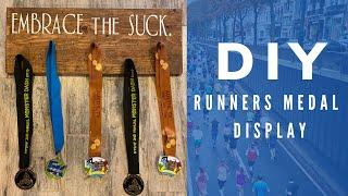 DIY Runners Medal Wooden Display