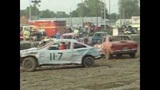 preview picture of video 'demo derby 2012 fremont ohio'