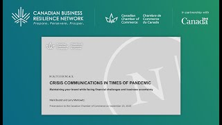 Crisis Communications in Times of Pandemic