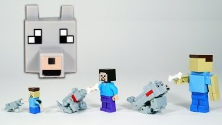 How To Build LEGO Minecraft Wolf / Dog