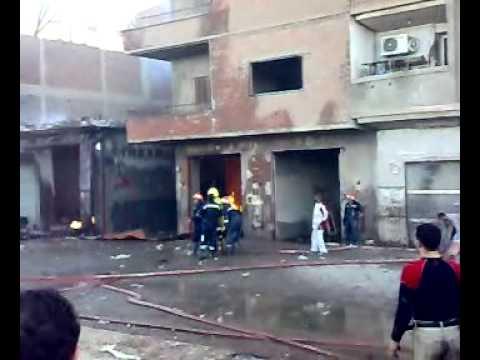 حريق مستودع انابيب الغاز بالوراق9
