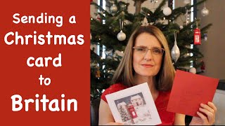 To Text > Sending a Christmas Card to Britain