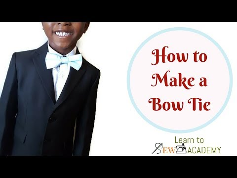 How to Make a Bow Tie | EASY DIY PROJECTS | LTS Academy