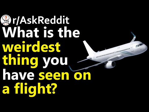 What is the weirdest thing you have seen on a flight? r/AskReddit | Reddit Jar