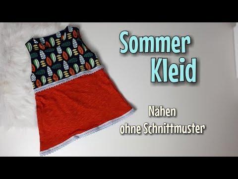 Sommerkleid - Nähanleitung OHNE Schnittmuster - Für Anfänger - Nähtinchen