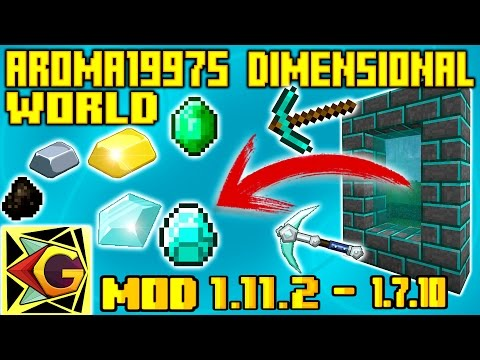 La Dimensión Para Minar| ¡Aroma1997s Dimensional World! | Para 1.11.2 – 1.7.10 | Mod Review Español