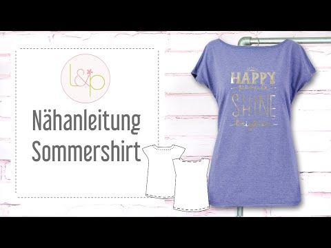 Nähanleitung lillesol Sommershirt - ein T-Shirt nähen